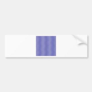 Zigzag - White and Dark Blue Bumper Sticker