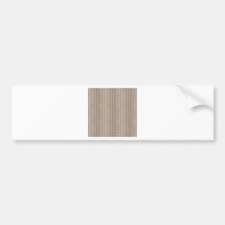Zigzag - White and Dark Brown Bumper Sticker