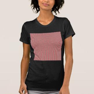 Zigzag - White and Dark Red T Shirts