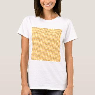 Zigzag - White and Dark Tangerine T-Shirt