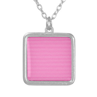 Zigzag - White and Deep Pink Necklace