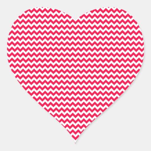 Zigzag - White and Electric Crimson Stickers