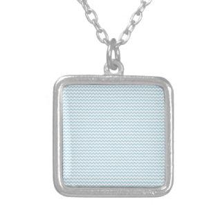 Zigzag - White and Light Blue Custom Necklace