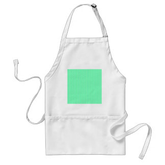 Zigzag - White and Spring Green Apron