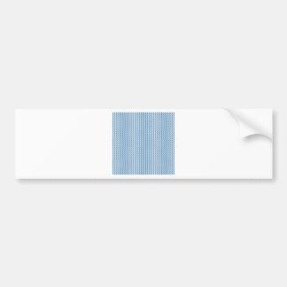 Zigzag - White and Steel Blue Bumper Sticker