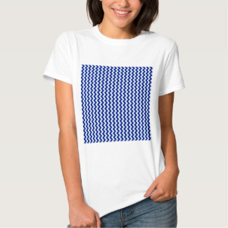 Zigzag Wide - Pale Blue and Navy Blue T Shirt