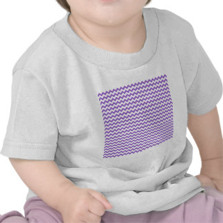 Zigzag Wide  - White and Amethyst Tshirt