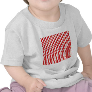 Zigzag Wide  - White and BU Red T-shirts