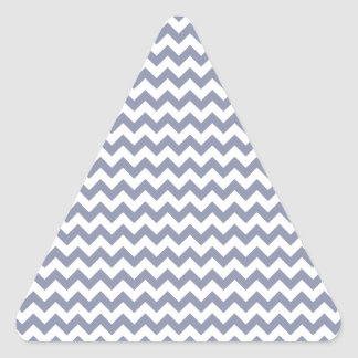 Zigzag Wide  - White and Cool Gray Triangle Stickers