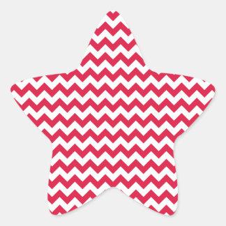 Zigzag Wide  - White and Crimson Sticker