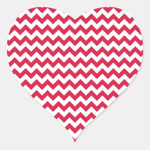 Zigzag Wide  - White and Crimson Stickers