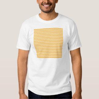 Zigzag Wide  - White and Dark Tangerine Tshirt