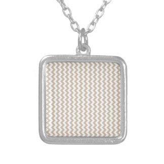 Zigzag Wide - White and Dark Vanilla Custom Necklace