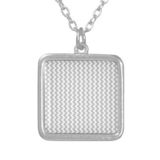 Zigzag Wide  - White and Gainsboro Necklace