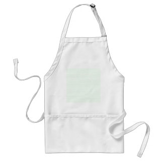 Zigzag Wide  - White and Honeydew Adult Apron