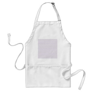 Zigzag Wide - White and Languid Lavender Aprons