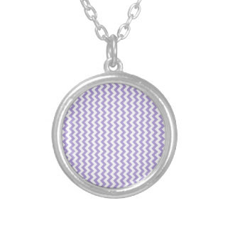 Zigzag Wide  - White and Light Pastel Purple Necklaces