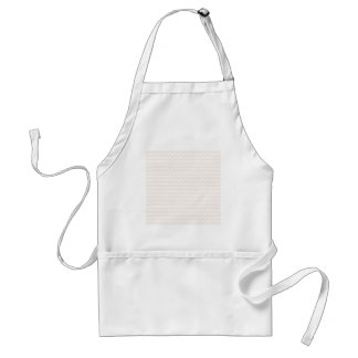 Zigzag Wide  - White and Linen Aprons