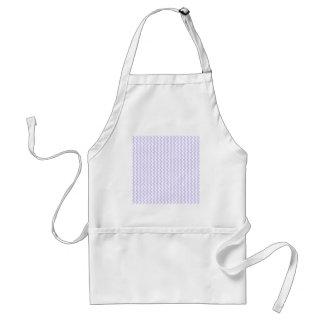 Zigzag Wide - White and Pale Lavender Apron