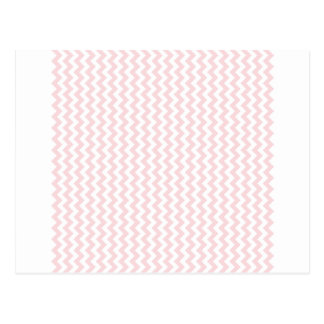 Zigzag Wide  - White and Pale Pink Postcard