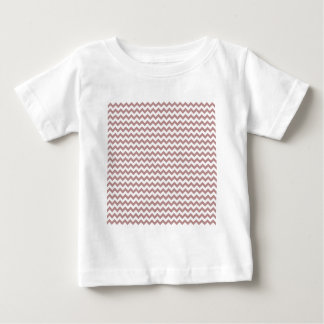 Zigzag Wide  - White and Rosy Brown Tshirt