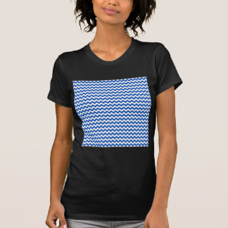Zigzag Wide  - White and Sapphire Tee Shirts