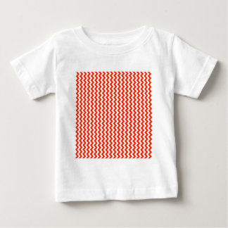 Zigzag Wide  - White and Scarlet T Shirts