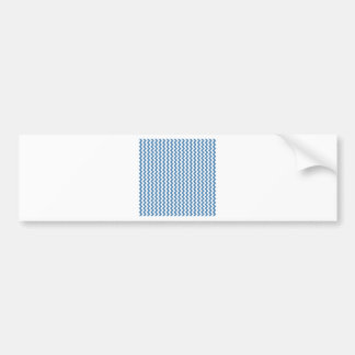 Zigzag Wide  - White and Steel Blue Bumper Stickers