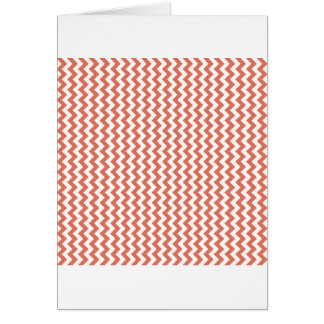 Zigzag Wide  - White and Terra Cotta Card