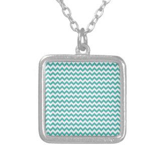 Zigzag Wide - White and Verdigris Pendants