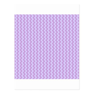 Zigzag Wide - Wisteria and Pale Lavender Postcard
