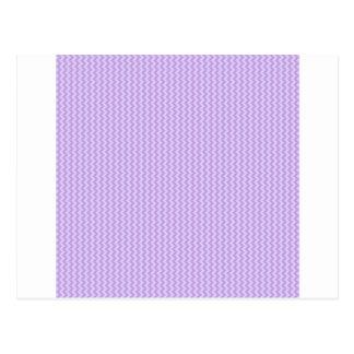 Zigzag - Wisteria and Pale Lavender Postcard