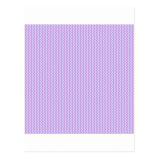 Zigzag - Wisteria and Pale Lavender Post Card