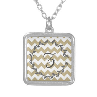 zigzag with Chevron of color khaki and target Custom Jewelry