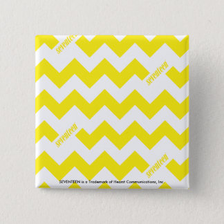 ZigZag Yellow 15 Cm Square Badge