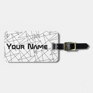 Zigzags Luggage Tag