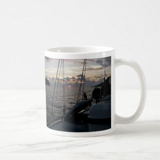 Zihuatanejo Sunset from Moira in anchorage Basic White Mug