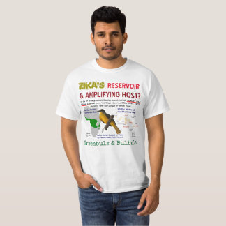 Zika's Reservoir & Amplifying Host by RoseWrites T-Shirt