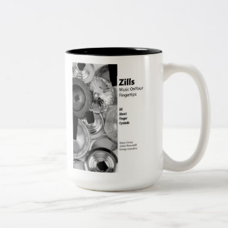 Zills: Music on Your Fingertips - for beverages! Two-Tone Coffee Mug