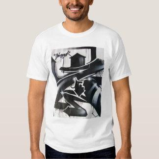 ZIMAD BLACK AND WHITE SPRAYPAINT GRAFFIT Z T-SHIRT