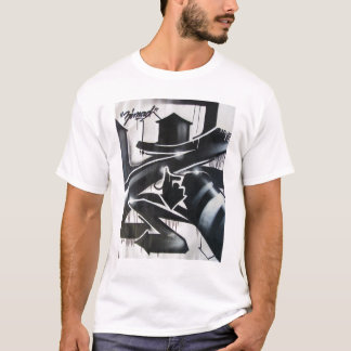 ZIMAD BLACK AND WHITE SPRAYPAINT GRAFFIT Z T-SHIRT