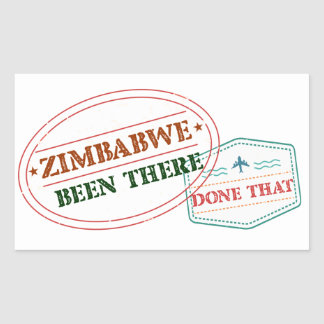 Zimbabwe Been There Done That Rectangular Sticker