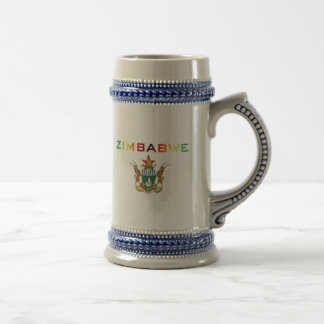 Zimbabwe Coat of Arms Beer Stein