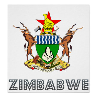 Zimbabwe Coat of Arms Poster