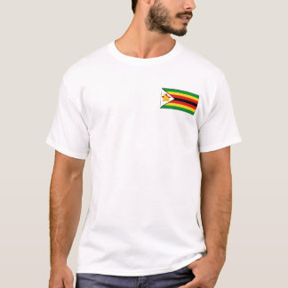 Zimbabwe Flag and Map T-Shirt