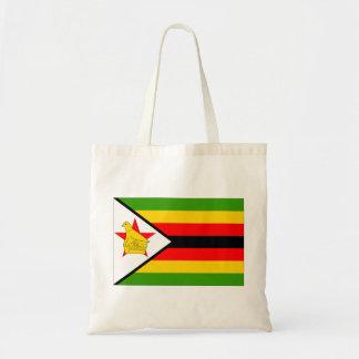 Zimbabwe Flag Budget Tote Bag