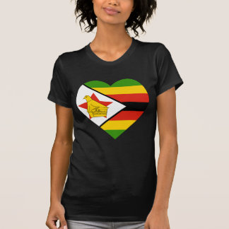 Zimbabwe Flag Heart T Shirts