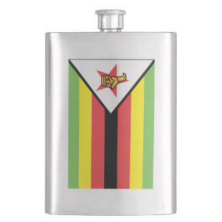 Zimbabwe Flag Hip Flask
