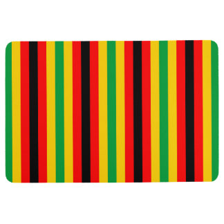 Zimbabwe flag stripes lines country colors floor mat