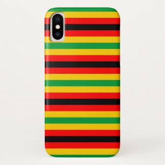 Zimbabwe flag stripes lines country colors iPhone x case